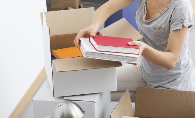 dicas organizar mudança caixas livros