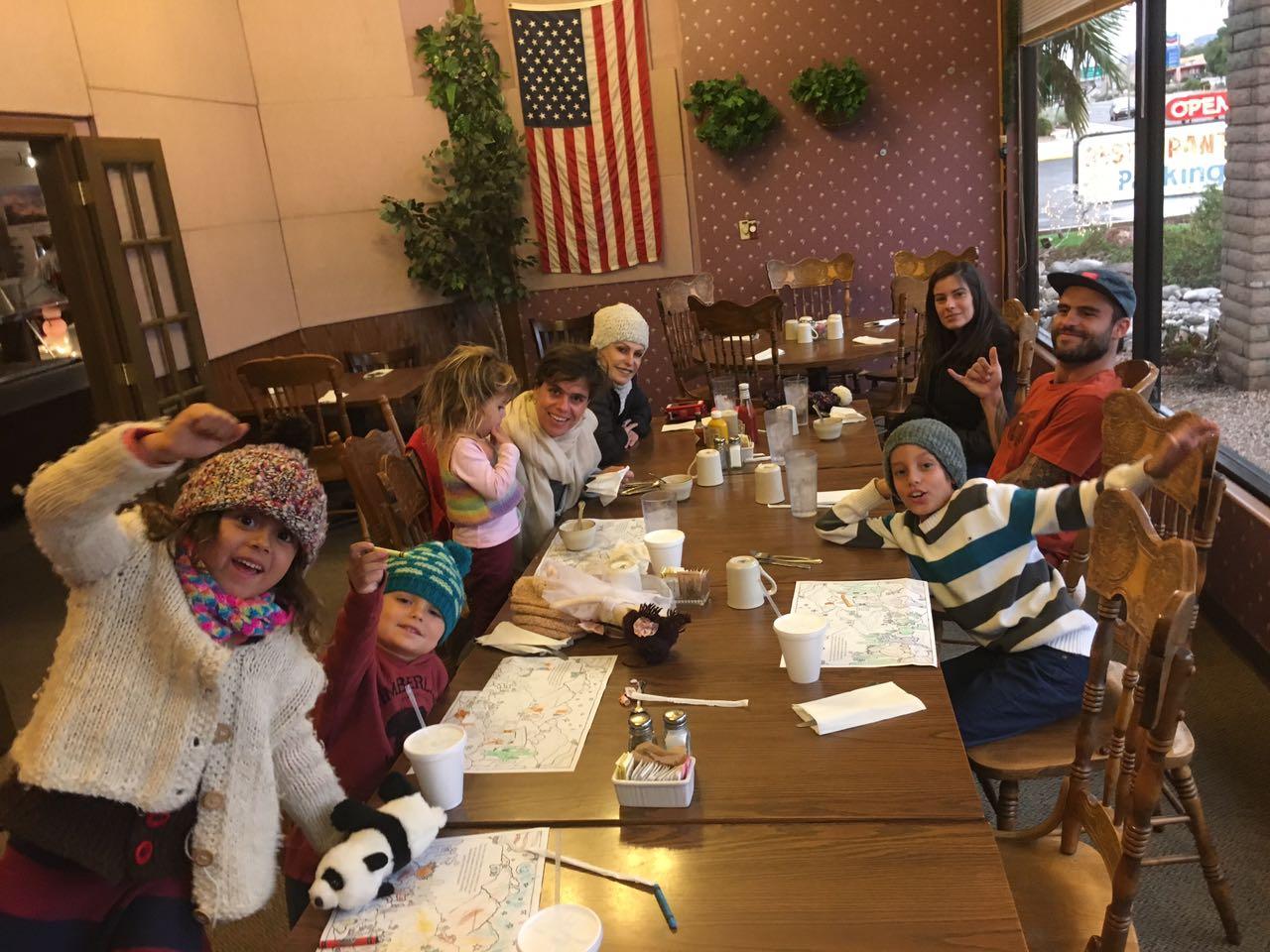 Ana e família em viagem aos EUA