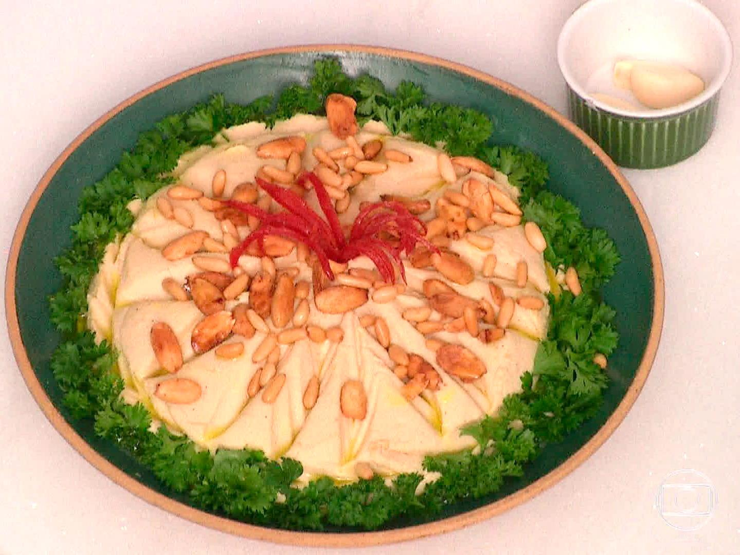 Hummus com molho tahine (Hommos di tahine)