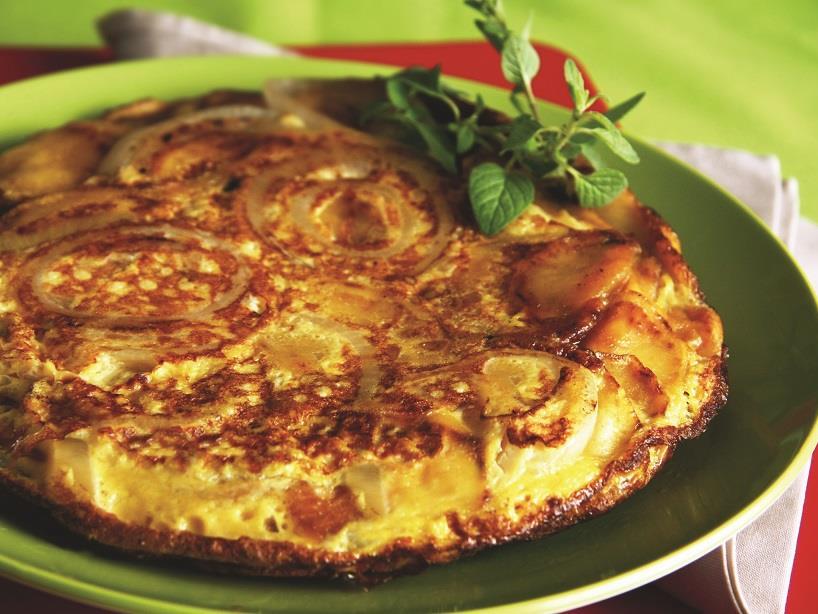 Fritada espanhola de batata e ovo