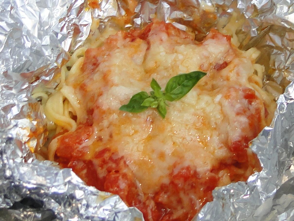 Spaghettinho Caseiro em Papillote